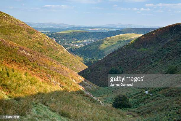 View down Carding Mill Valley towards Church Stretton, Shropshire, England, UK