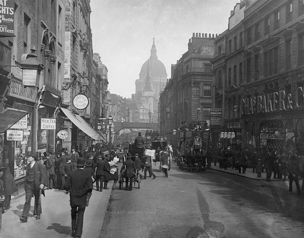 A view down Fleet Street towards Ludgate Hill Circus...
