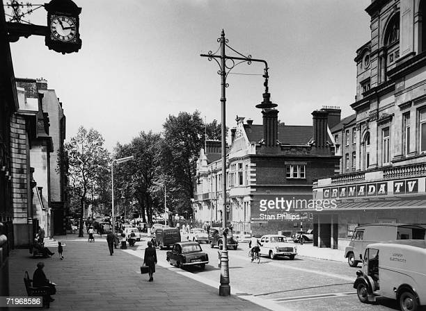 A view down the Kings Road Chelsea London June 1958