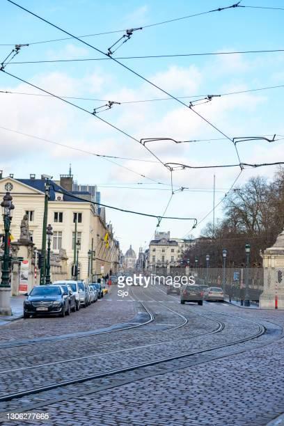 """view down the regentschapsstraat in brussels - """"sjoerd van der wal"""" or """"sjo"""" stock pictures, royalty-free photos & images"""