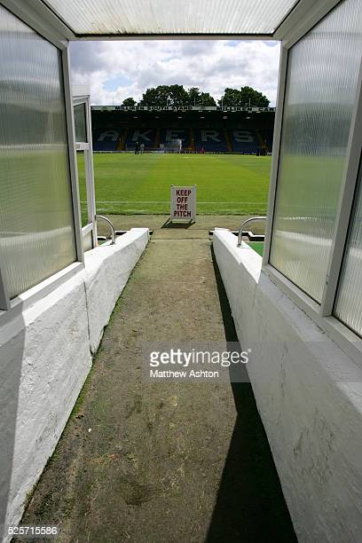 A view down the tunnel at Gigg Lane home of Bury FC