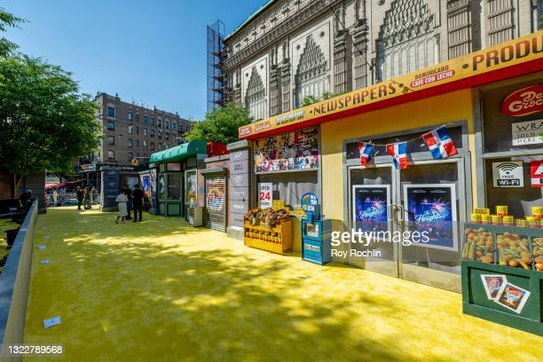 """View down the yellow carpet of """"In The Heights"""" 2021 Tribeca Festival opening night premiere at United Palace Theater on June 09, 2021 in New York..."""