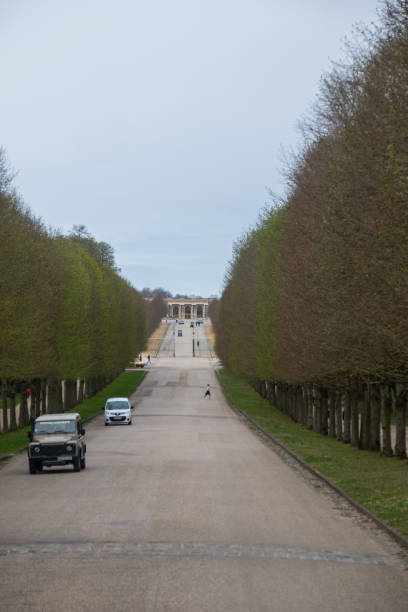 A view down Trianon Avenue towards the Grand Trianon - Versailles, France