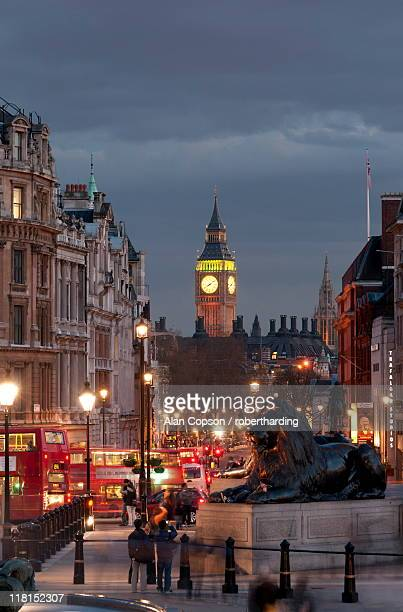 view down whitehall from trafalgar square, london, england, united kingdom, europe - alan copson stock pictures, royalty-free photos & images