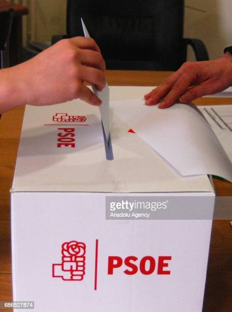 A view during an election to select a new leader for Spanish Socialist Workers' Party in Madrid Spain on May 21 2017