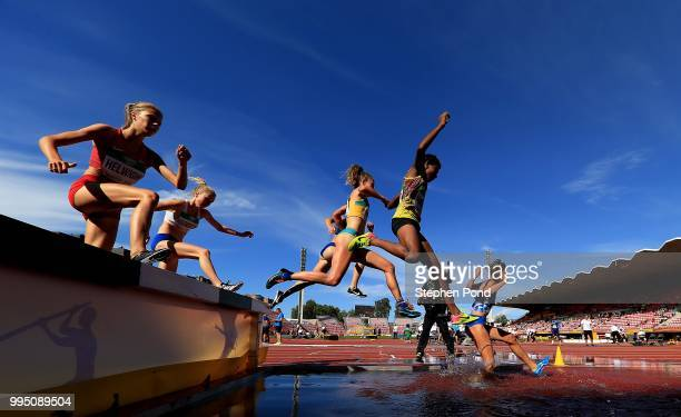 A view during heat one of the Women's 3000m Steeplechase on day one of The IAAF World U20 Championships on July 10 2018 in Tampere Finland