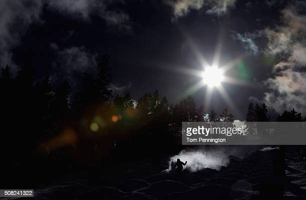 A view during practice run for the men's moguls for the 2016 FIS Freestyle Ski World Cup at Deer Valley Resort on February 3 2016 in Park City Utah