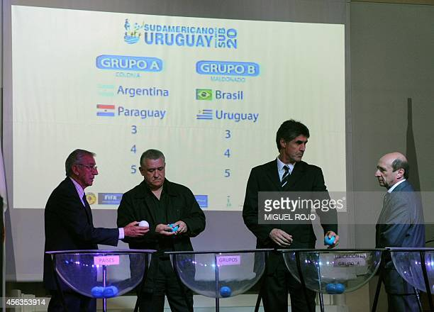 View during the U-20 South American Championship draw, in Montevideo, on September 29, 2014. The championship will take place in Uruguay from January...