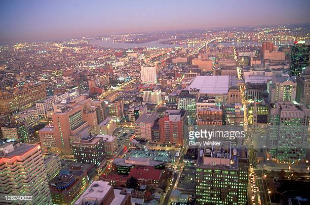 View east from top of tower, 1717 Arch St, Center City, Philadelphia, PA
