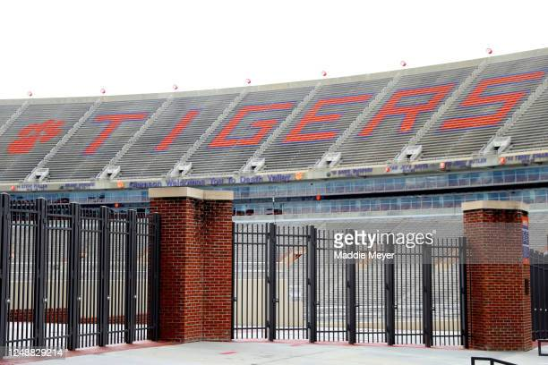 View empty stands inside of Clemson Memorial Stadium on the campus of Clemson University on June 10, 2020 in Clemson, South Carolina. The campus...