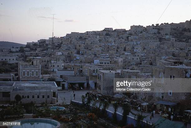 View facing west of homes on the hillsides in Hebron Israel November 1967