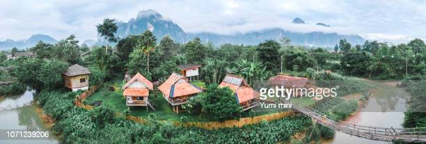 View for panorama in Vang Vieng  Laos