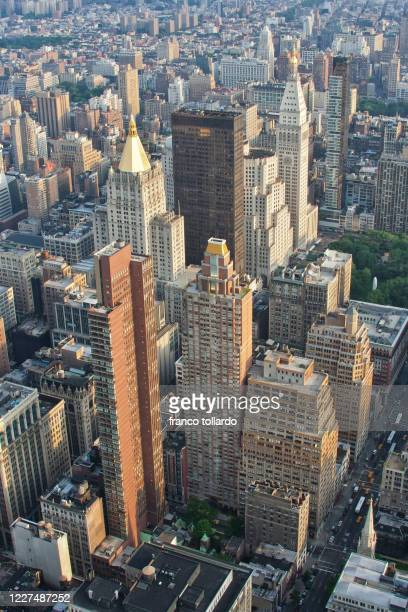 view form the empire state building - metropolitan museum of art new york city stock pictures, royalty-free photos & images