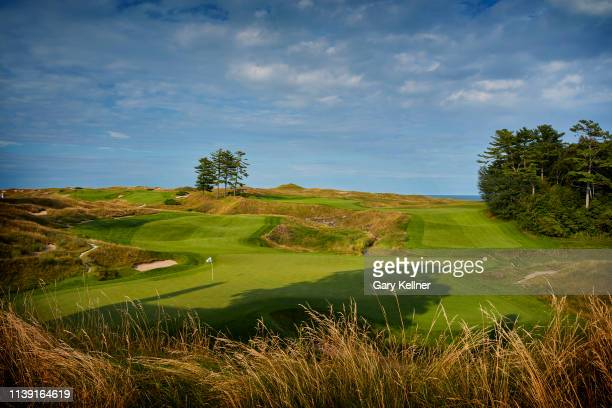 View from 18th hole of Whistling Straits Golf Course on October 15, 2018 in Sheboygan, Wisconsin.
