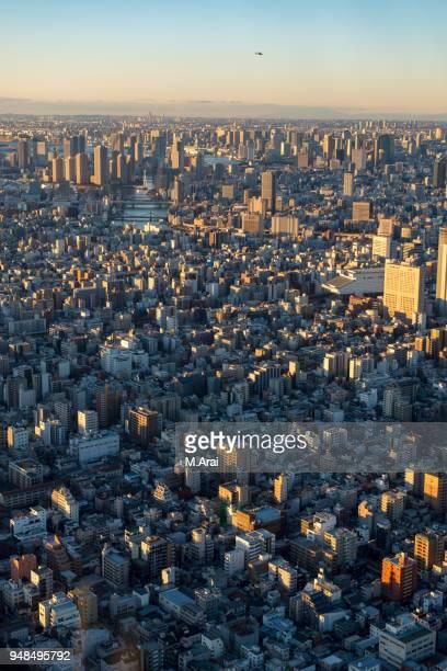 view from 350 m - 永代橋 ストックフォトと画像