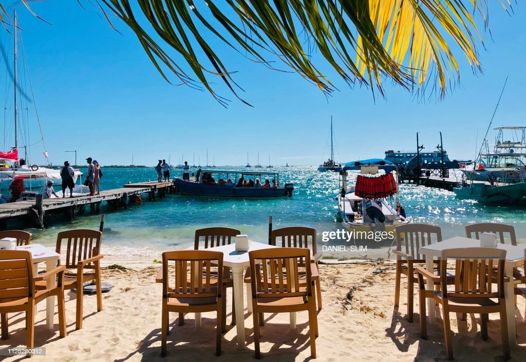 View From A Beach Restaurant In Isla Mujeres Quintana Roo