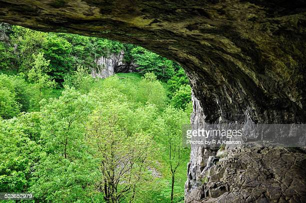 View from a cave in Deepdale, Derbyshire