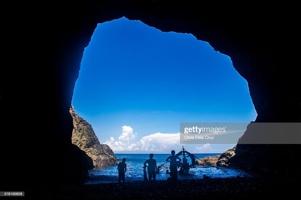 View from a cave in Dingalan : Stock Photo