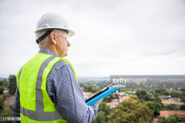 view from a construction property - foreperson stock pictures, royalty-free photos & images