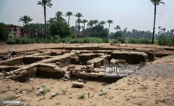 A view from a field located at western of Cairo after remains of a 2000 year old house and historical artifacts of that period have been found in...