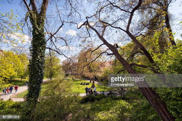 a view from a park near malostranska underground station,prague. - emreturanphoto bildbanksfoton och bilder