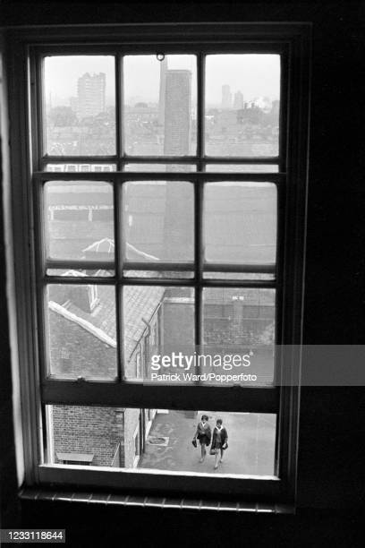 View from a window of a Junior School in Notting Hill, London, circa June 1969. From a series of images to illustrate the many frustrations of living...