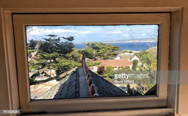 view from a window - city of monterey california stock pictures, royalty-free photos & images