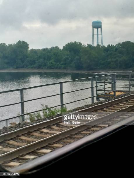 view from a window - trenton bridge stock photos and pictures