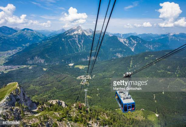 view from a Zugspitzbahn cable car