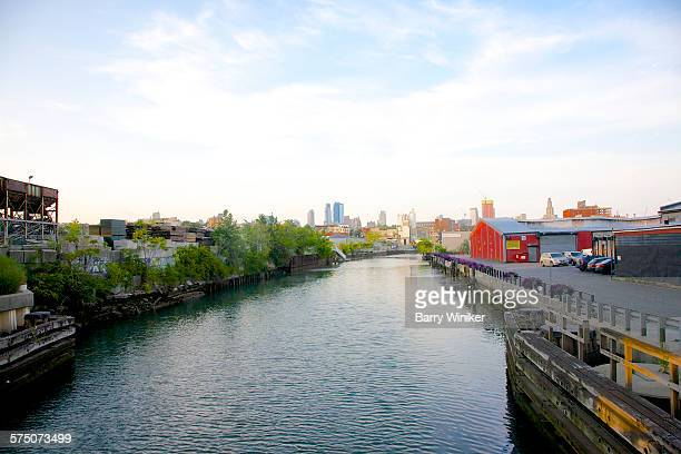 View from above of Gowanus Canal, Brooklyn