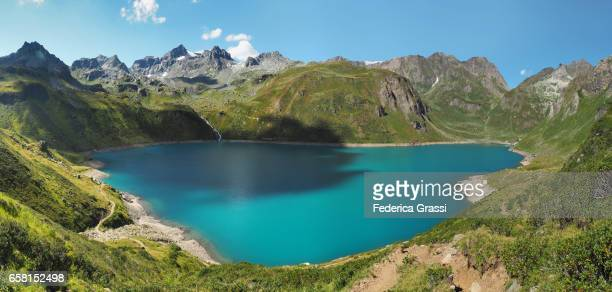 View from above of Lake Vannino in Formazza Valley, Northern Italy