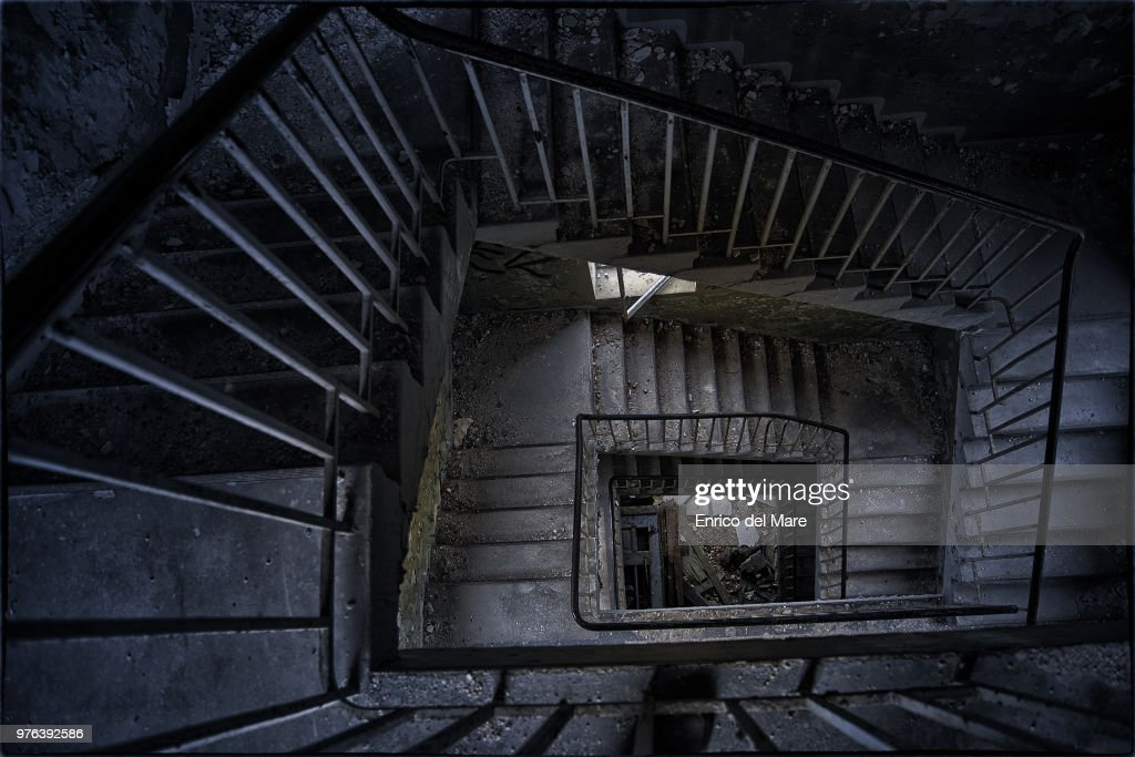 View From Above Of Old Staircase Stock Photo Getty Images