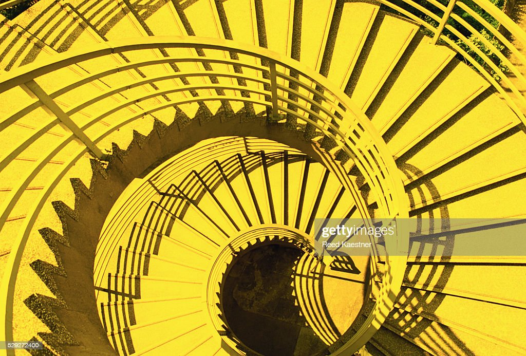 View From Above Of Spiral Staircase Stock Photo Getty Images