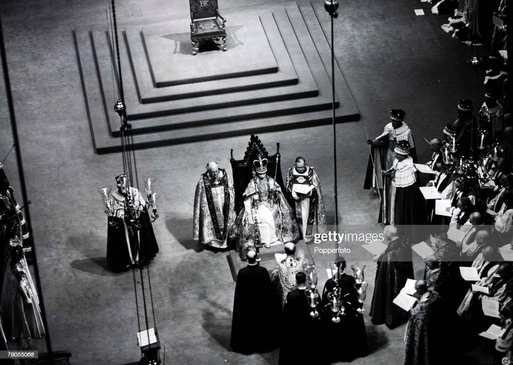 2nd June 1953, Queen Elizabeth II is crowned at Westminster Abbey.