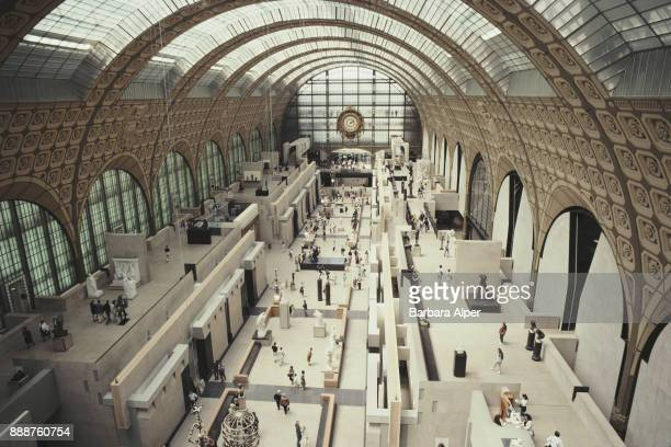 View from above of the Hall of the Musée d'Orsay, Paris, France, June 1991.