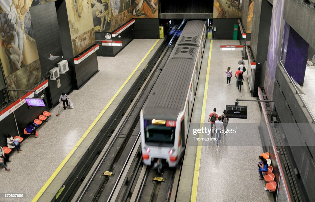 Metro station in Santiago de Chile, capital of Chile : News Photo