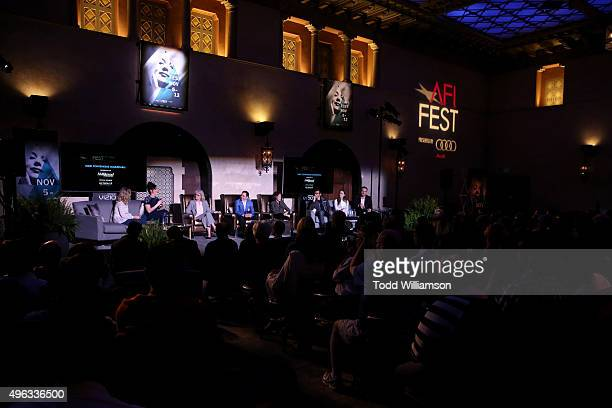 View from above the 'Indie Contenders Roundtable presented by The Hollywood Reporter' during AFI FEST 2015 presented by Audi at the Hollywood...