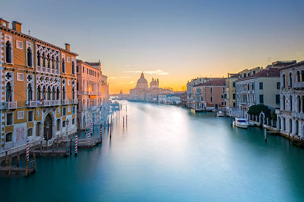 View From Accademia Bridge On Grand Canal In Venice Wall Art