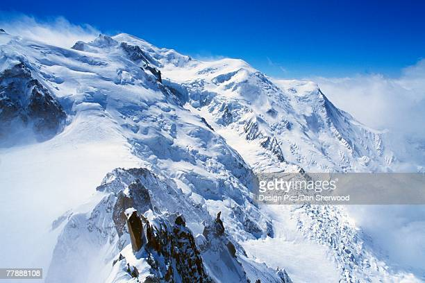 """view from aguille du midi, french alps"" - dan peak stock photos and pictures"