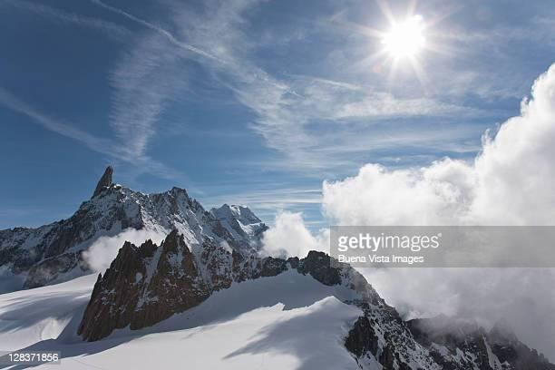 View from Aiguille du Midi, Mont Blanc.
