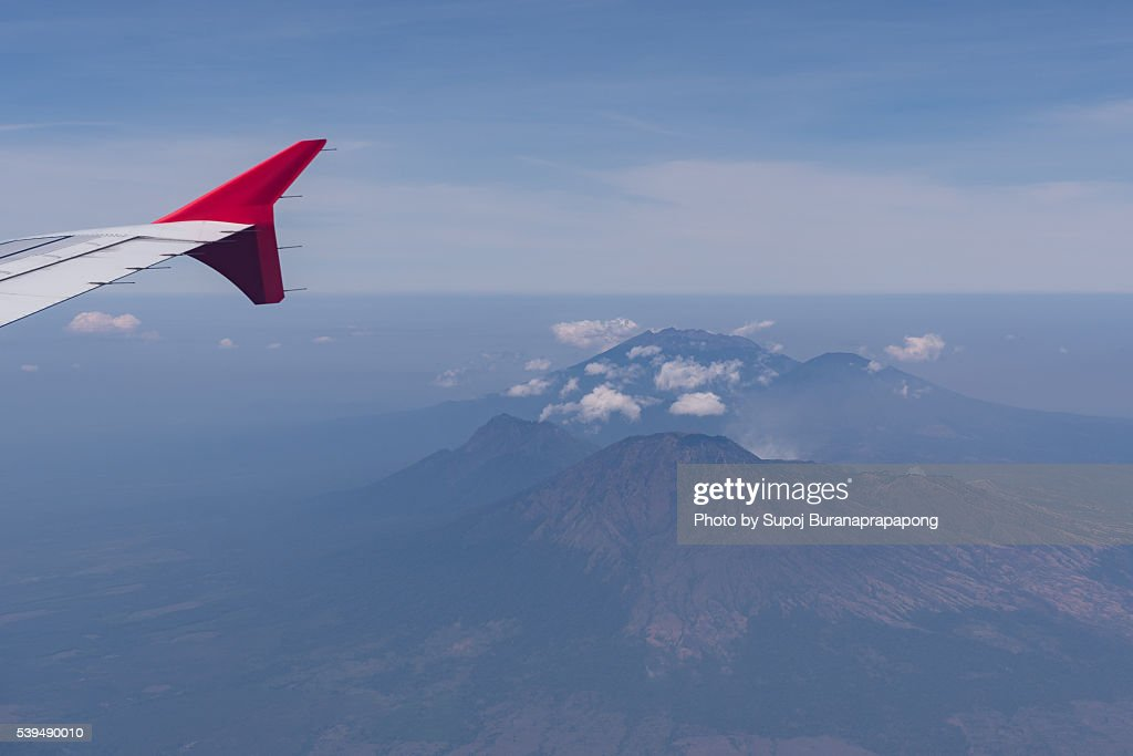 View From Airplane Bangkok Thailand To Bali Indonesia Stock Photo