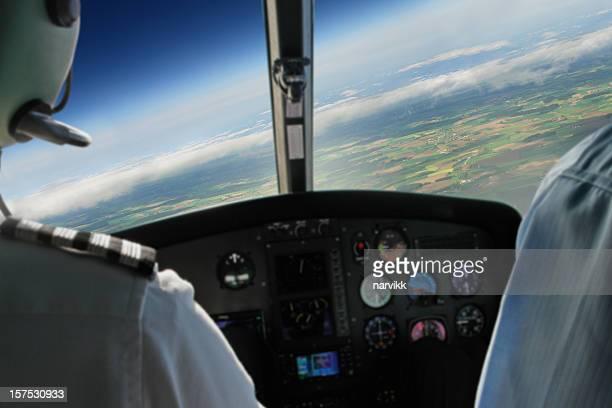 Blick vom während Flug Flugzeug-Kabine