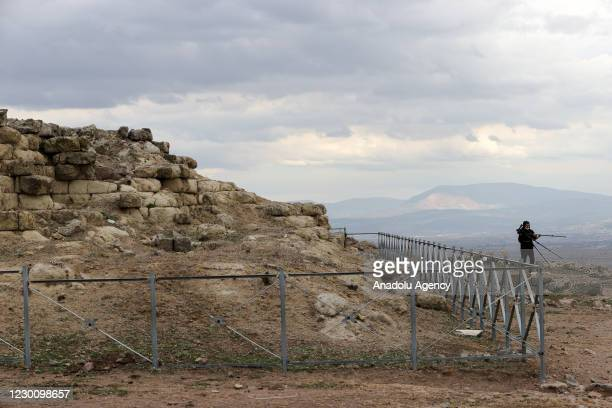 View from Akropolis Bergama as efforts are underway to exhibit the Pergamon Altar, which was built 2,200 years ago by the Attalos Dynasty, which...