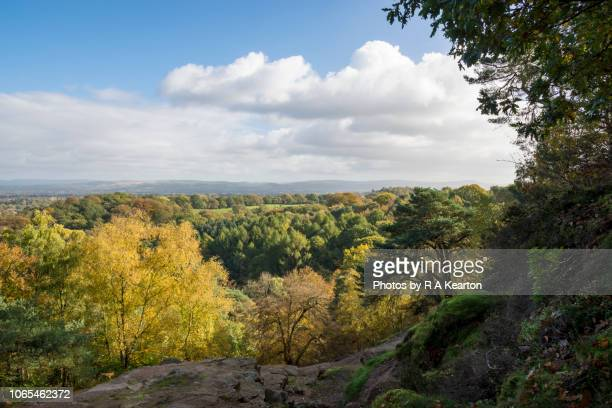 View from Alderley Edge in autumn, Cheshire, England