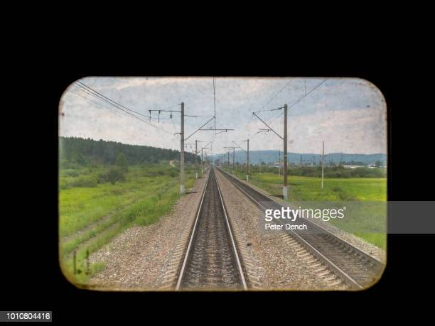 A view from back of the TransSiberian Railway from MoscowVladivostok Spanning a length of 9289km it's the longest uninterrupted single country train...