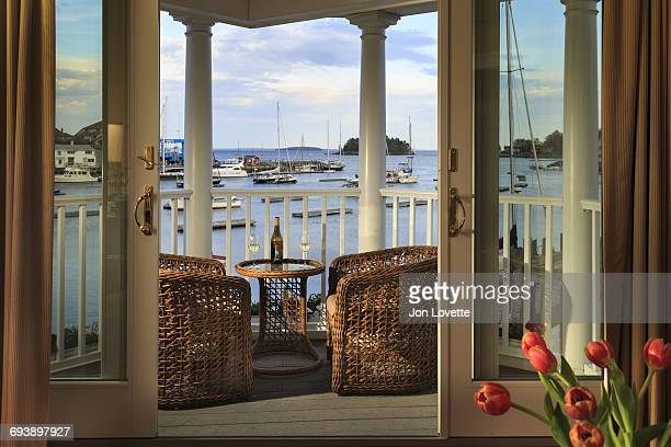 View from balcony of Camden Harbor
