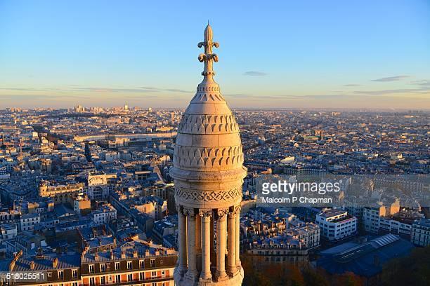 View from Basilique Du Sacre Coeur, Paris, France