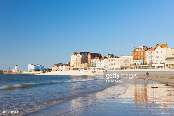 view from beach of margate, margate, kent, england - kent county stock pictures, royalty-free photos & images