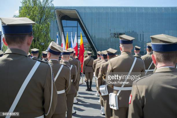 View from behind of members of the Representative Honor Guard Battalion of the Polish Armed Forces at the ceremony in commemoration of the 75th...