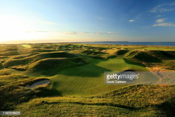 A view from behind the green of the par 3 sixth hole at Royal St George's Golf Club the host venue for the 2020 Open Championship on July 01 2019 in...